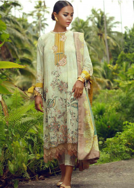 Tena Durrani Embroidered Lawn Unstitched 3 Piece Suit TD18F 03 - Eid ul Azha Collection
