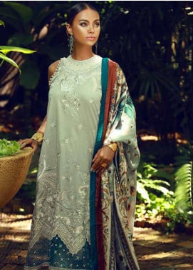 Tena Durrani Embroidered Lawn Unstitched 3 Piece Suit TD18F 05 - Eid ul Azha Collection