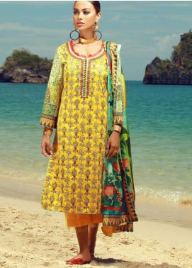 Tena Durrani Embroidered Lawn Unstitched 3 Piece Suit TD18F 07 - Eid ul Azha Collection