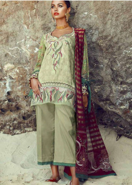 Tena Durrani Embroidered Lawn Unstitched 3 Piece Suit TD18F 08 - Eid ul Azha Collection