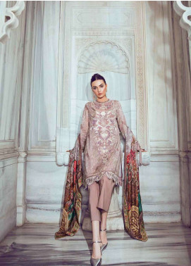 Tena Durrani Embroidered Lawn Unstitched 3 Piece Suit TD18L 01 - Spring / Summer Collection
