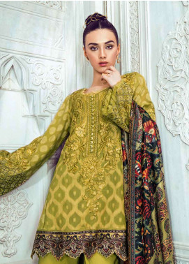 Tena Durrani Embroidered Lawn Unstitched 3 Piece Suit TD18L 03 - Spring / Summer Collection