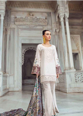 Tena Durrani Embroidered Lawn Unstitched 3 Piece Suit TD18L 07 - Spring / Summer Collection