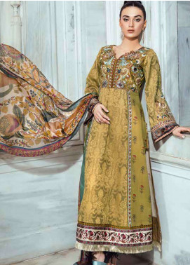 Tena Durrani Embroidered Lawn Unstitched 3 Piece Suit TD18L 08 - Spring / Summer Collection