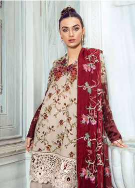Tena Durrani Embroidered Lawn Unstitched 3 Piece Suit TD18L 10A - Spring / Summer Collection