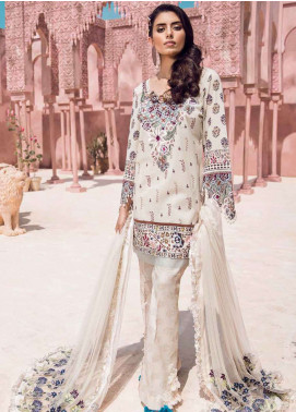 Tena Durrani Embroidered Lawn Unstitched 3 Piece Suit TD18L 11 - Spring / Summer Collection