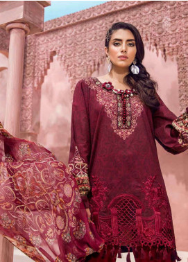 Tena Durrani Embroidered Lawn Unstitched 3 Piece Suit TD18L 12A - Spring / Summer Collection