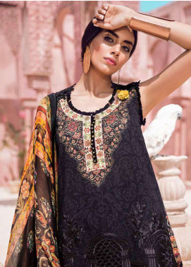 Tena Durrani Embroidered Lawn Unstitched 3 Piece Suit TD18L 12B - Spring / Summer Collection