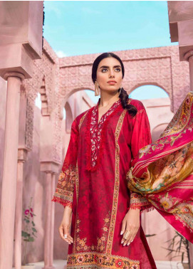 Tena Durrani Embroidered Lawn Unstitched 3 Piece Suit TD18L 13A - Spring / Summer Collection