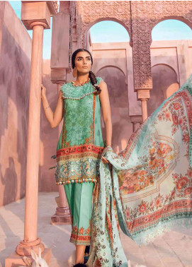 Tena Durrani Embroidered Lawn Unstitched 3 Piece Suit TD18L 13B - Spring / Summer Collection