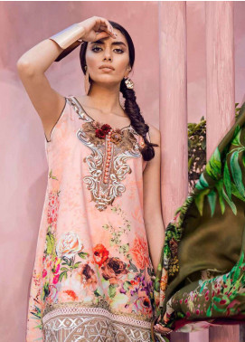 Tena Durrani Embroidered Lawn Unstitched 3 Piece Suit TD18L 14A - Spring / Summer Collection