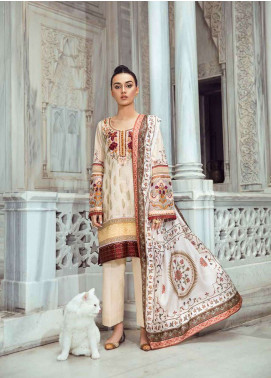 Tena Durrani Embroidered Lawn Unstitched 3 Piece Suit TD18L 4A - Spring / Summer Collection