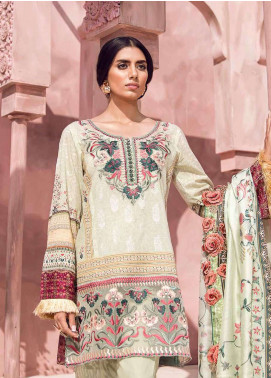 Tena Durrani Embroidered Lawn Unstitched 3 Piece Suit TD18L 4B - Spring / Summer Collection