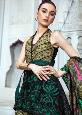 Tena Durrani Embroidered Lawn Unstitched 3 Piece Suit TD18L 5A - Spring / Summer Collection