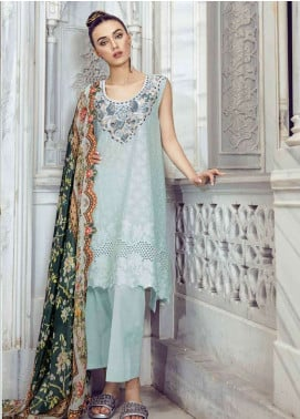 Tena Durrani Embroidered Lawn Unstitched 3 Piece Suit TD18L 9A - Spring / Summer Collection