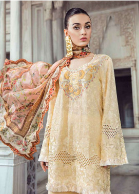 Tena Durrani Embroidered Lawn Unstitched 3 Piece Suit TD18L 9B - Spring / Summer Collection