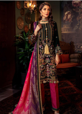 Tehzeeb by Mohagni Embroidered Velvet Unstitched 3 Piece Suit MO20TV 03 - Winter Collection