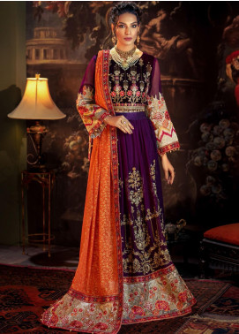 Tehzeeb by Mohagni Embroidered Velvet Unstitched 3 Piece Suit MO20TV 08 - Winter Collection