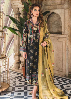 Tena Durrani Embroidered Jacquard Unstitched 3 Piece Suit TD19F 1 - Formal Collection