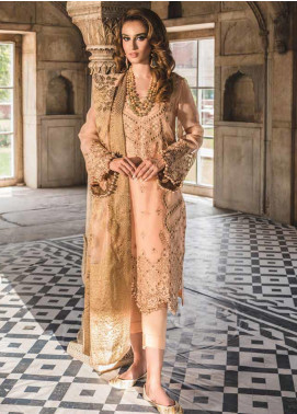 Tena Durrani Embroidered Organza Unstitched 3 Piece Suit TD19F 2 - Formal Collection