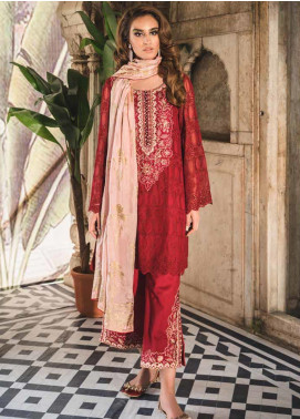 Tena Durrani Embroidered Chiffon Unstitched 3 Piece Suit TD19F 3 - Formal Collection