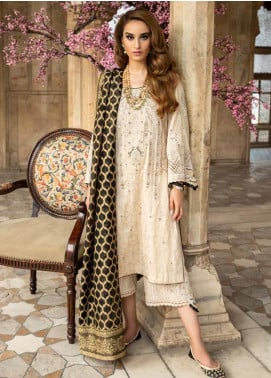 Tena Durrani Embroidered Jacquard Unstitched 3 Piece Suit TD19F 4 - Formal Collection