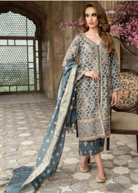 Tena Durrani Embroidered Jacquard Unstitched 3 Piece Suit TD19F 6 - Formal Collection