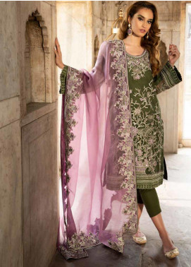 Tena Durrani Embroidered Organza Formal Collection Design # 7 2019