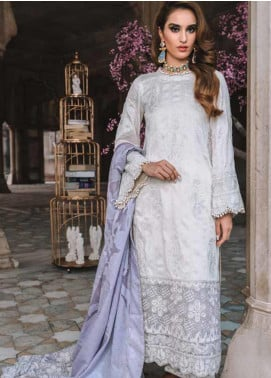 Tena Durrani Embroidered Jacquard Unstitched 3 Piece Suit TD19F 8A - Formal Collection