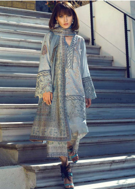 Tena Durrani Embroidered Lawn Unstitched 3 Piece Suit TD19L 8A FERAZIA - Spring / Summer Collection