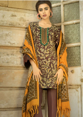 Tena Durrani Embroidered Linen Unstitched 3 Piece Suit TD18W 03 - Winter Luxury Collection