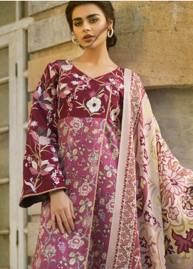 Tena Durrani Embroidered Linen Unstitched 3 Piece Suit TD18W 4A - Winter Luxury Collection