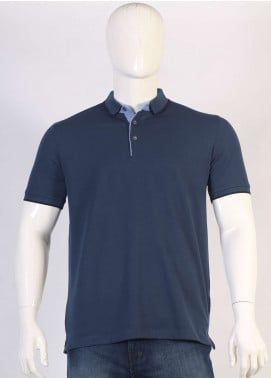 Sanaulla Exclusive Range Jersey Polo T-Shirts for Men - Navy Blue TKM18S 317-08