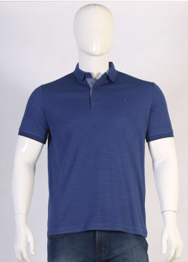 Sanaulla Exclusive Range Jersey Polo Men T-Shirts - Blue TKM18S 361-09