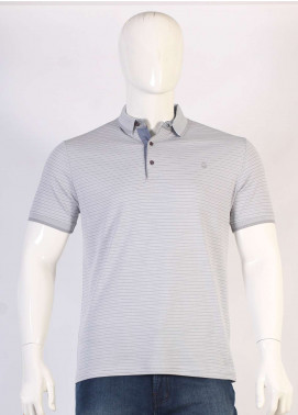 Sanaulla Exclusive Range Jersey Polo Men T-Shirts - Grey TKM18S 361-18