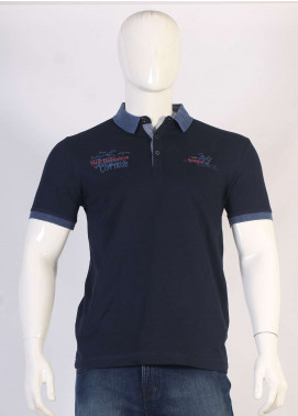 Sanaulla Exclusive Range Jersey Polo T-Shirts for Men - Navy Blue TKM18S 366-01