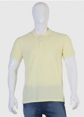 Sanaulla Exclusive Range Jersey Polo T-Shirts for Men - Yellow TKM18S 419