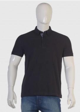 Sanaulla Exclusive Range Jersey Polo Men T-Shirts - Black TKM18S V-7