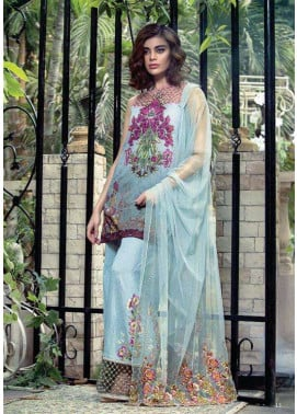 Tabassum Mughal Embroidered Lawn Unstitched 3 Piece Suit TM17E2 1A