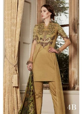 Tabassum Mughal Embroidered Lawn Unstitched 3 Piece Suit TM17L 4B