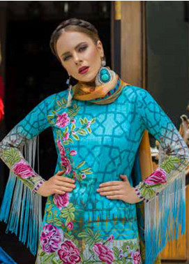 Tabassum Mughal Embroidered Lawn Unstitched 3 Piece Suit TM18F 03 - Eid Collection