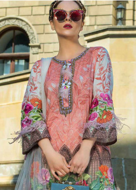 Tabassum Mughal Embroidered Lawn Unstitched 3 Piece Suit TM18F 04 - Eid Collection