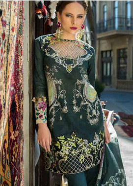 Tabassum Mughal Embroidered Lawn Unstitched 3 Piece Suit TM18F 07 - Eid Collection