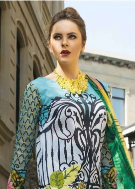 Tabassum Mughal Embroidered Lawn Unstitched 3 Piece Suit TM18F 09 - Eid Collection