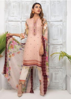 Trend Setter by MTF Embroidered Lawn Unstitched 3 Piece Suit MTF20T 12 - Spring / Summer Collection