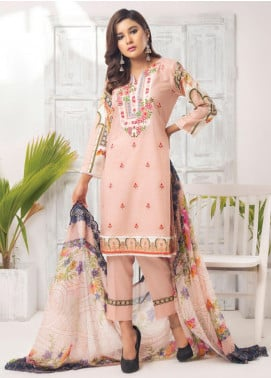 Trend Setter by MTF Embroidered Lawn Unstitched 3 Piece Suit MTF20T 3 - Spring / Summer Collection