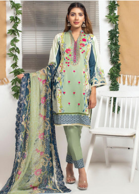 Trend Setter by MTF Embroidered Lawn Unstitched 3 Piece Suit MTF20T 4 - Spring / Summer Collection
