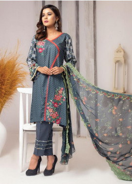 Trend Setter by MTF Embroidered Lawn Unstitched 3 Piece Suit MTF20T 7 - Spring / Summer Collection