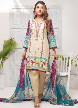 Trend Setter by MTF Embroidered Lawn Unstitched 3 Piece Suit MTF20T 8 - Spring / Summer Collection