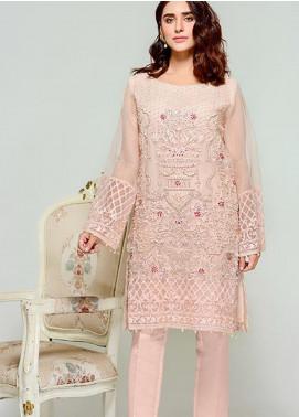 Tresor by Adan's Libas Embroidered Cotton Net Unstitched 2 Piece Suit AL20T D-03 - Festive Collection